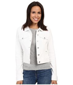 NWT LIVERPOOL JEANS CO. SOLID WHITE COTTON/SPANDEX CROPPED DENIM JACKET SIZE M #LIVERPOOLJEANSCO #CROPPED