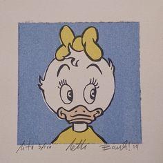 """Lithography """"Portrett av Letti"""". 10x10 cm. Artist: Ronny Bank. Want it? Go to http://artbyhand.no/produkt/billedkunst/portrett-av-letti"""