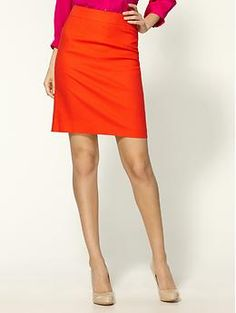 Beyond the Pencil Skirt Meet Maggy Designer of Maggy #0: a8af3b9cbff1a3100baedba7effefe57 orange pencil skirts bright skirts