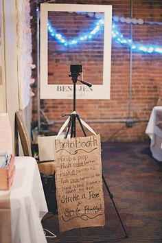 Polaroid Photo Booth /  37 Things To DIY Instead Of Buy For Your Wedding (via BuzzFeed)