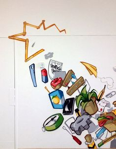 Graffiti Cartoon Process - by Pablo Fontagnier (aka Hombre SUK) - German graffiti artist -