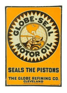 Globe-Seal Motor Oil Graphic Tin Sign