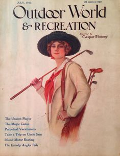 Outdoor World and Recreation July 1913 Lady Golfer Cover