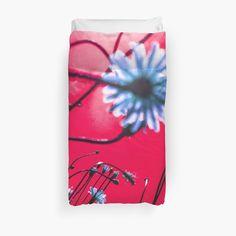 Red Dream Flowers - Duvet Cover by vampyba