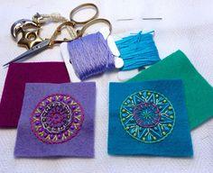Felt   Embroidered Mandalas  MagaMerlina