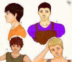 boys of Heroes olympus Percy Frank Leo and Jason