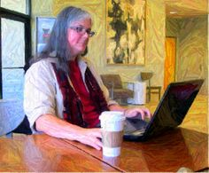Writing in the Coffee Shop, version two