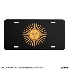 GOLDEN SUN FACE License Plate