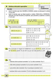Clasa a II-a : Matematică și explorarea mediului. Clasa a II-a. Partea II - (E1) Math 2, Math For Kids, Map, Location Map, Maps
