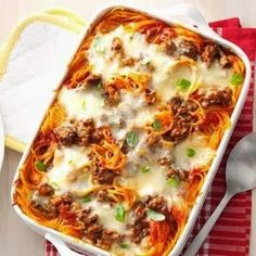 Recipes, Dinner Ideas, Healthy Recipes  Food Guide: Baked Spaghetti