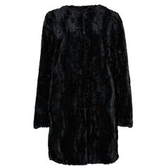 M&S Collection PETITE Faux Fur Textured Jacket ($82) ❤ liked on Polyvore featuring outerwear, jackets, black, textured jacket, faux fur jacket, fake fur jacket, black faux fur jacket and lined jacket