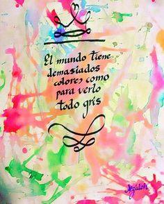 Caligrafía frases motivadoras #maldia #depresion #gris #triste #motivacion #color #arte #energia #alegria #frase #caligrafia #escritura #tinta #pluma