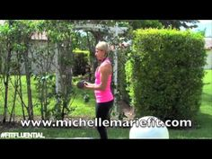 30 Workout: 7 exercises - 30 reps each. grab dumbbells and stability ball for this full body workout. Using half and full range of motion for the different moves. #fullbody #workout #fitfluential More 30 Workout, Workout Fitfluenti, Daily Workout, Mary Fit, Body Workout, Fit Fitfluenti, Diet Fit, Fit Life, Fit Motivation 30 Workout: Michelle Marie Fit #fitfluential #MOVE