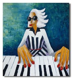 """Vladimir Dunjic artist / """"The piano keys are black and white, but they sound like a million colors in your mind."""" Maria Cristina Mena"""