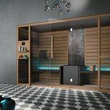 Téléchargez le catalogue et demandez les prix de Ethos   sauna pour chromothérapie By gruppo geromin, sauna avec douche pour chromothérapie design Franco Bertoli, Collection ethos