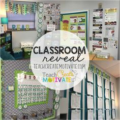 Blue and Green themed cozy classroom