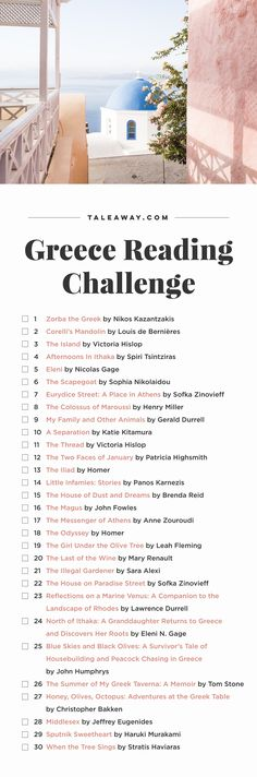 Greece Reading Challenge, Books Set In Greece...❄