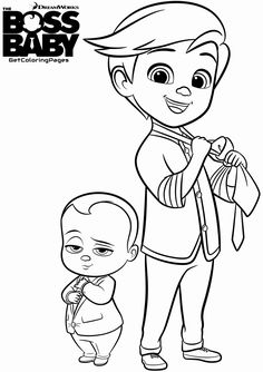 THE BOSS BABY Boss Baby Coloring Page Learn Colors For Kids 2 ... | 334x236