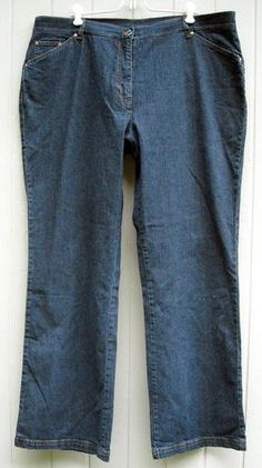 "Great Pair of Dark Denim Jeans  by Jones New York Signature Woman  Size 18W  Waist Measures 41 ""  Inseam Measures 32""  Very Good Condition  Free Shipping in the USA $19.99"