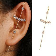 Ear Jewelry, Cute Jewelry, Body Jewelry, Jewellery, Unique Jewelry, Pretty Ear Piercings, Unique Piercings, Top Of Ear Piercing, Double Nostril Piercing