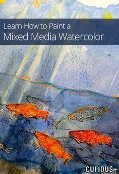 This mixed media watercolor course from Diana Trout shows you how to build your watercolor skills through a variety of media, and gives you ideas for creating your own mixed media masterpieces. Watercolour Tutorials, Watercolor Techniques, Painting Techniques, Up Girl, Art Plastique, Art Education, Art Tutorials, Mixed Media Art, Painting Inspiration