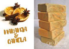 Jabón natural de naranja y canela con aceite de oliva virgen. Astringente, anticelulítico y estimulante.