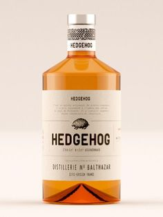 It's quite the challenge for a brand to achieve a design that is refined and funny at the same time. Hedgehog Whisky's packaging by Lasuite Atelier has a personal, small business vibe with lots of charm. Beverage Packaging, Coffee Packaging, Bottle Packaging, Brand Packaging, Packaging Design, Chocolate Packaging, Food Packaging, Whiskey Label, Whiskey Brands