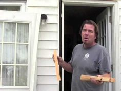 How to install an exterior door and jamb. Replace. Easy! The Home Mender. - YouTube