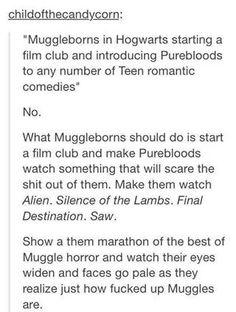 Muggleborns and their films.