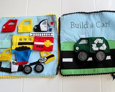 Felt Build a Car, Things that Go Quiet Book PATTERN