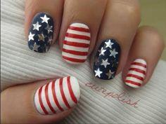 4th of July Nails nail art tutorials, juli nail, fourth of july, red white blue, star, fashion beauty, nail arts, 4th of july, patriotic nails