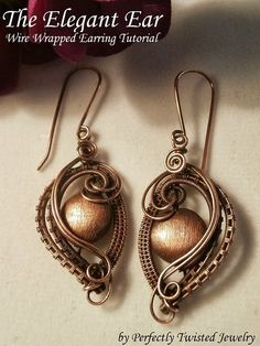 wire wrapped jewelry tutorials | New Tutorial! The Elegant Ear, Wire Wrapped Earring Pattern, Handmade ...