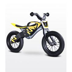 Bici sin pedales de madera Enduro Toyz amarillo/negro