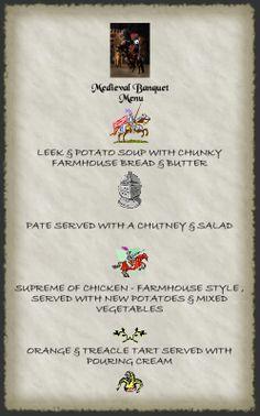 medieval tudor feast menu medieval tudor and food