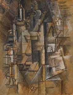 Pablo Picasso Bouteilles et verres 1911