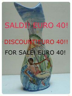 SALDIVaso da fiori in ceramica disegnato e dipinto a di LabLiu, €40.00