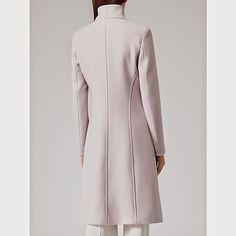 Reiss Emile Wrapped Collar Slimline Coat Wool Fashion For Linda