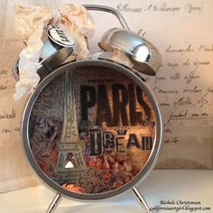 Sizzix Die Cutting Inspiration and Tips: Paris Assemblage Clock