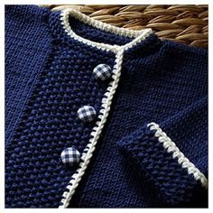 Beautiful baby jacket, Knitted top down. Free pattern on Ravelry, and several ot. : Beautiful baby jacket, Knitted top down. Free pattern on Ravelry, and several other colour options to check out there too. Baby Knitting Patterns, Knitting For Kids, Baby Patterns, Free Knitting, Knitting Ideas, Knit Baby Sweaters, Knitted Baby Clothes, Navy Sweaters, Knitting Sweaters