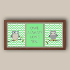 Owl Decor -  $22.00