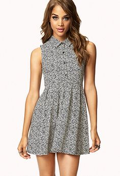 Static Print Fit & Flare Dress | FOREVER21 - 2074837495