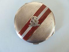 WEST RIDING Regiment Solid SILVER & ENAMEL Compact. Birmingham 1938