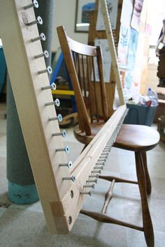 Giant loom. Use to make rugs from t-shirts and old sweaters, or anything else!