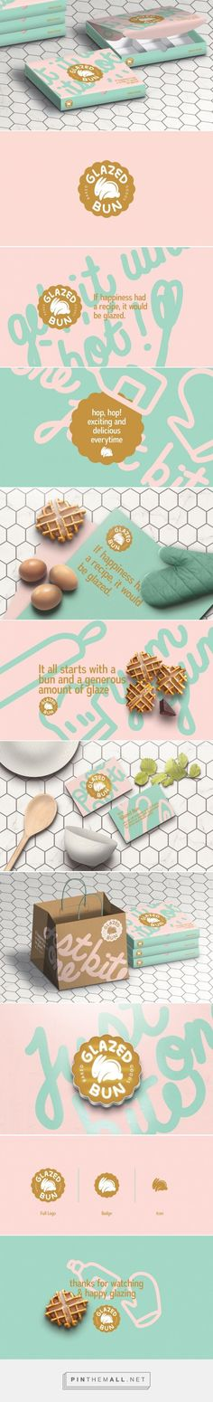 Glazed Bun Branding by Studio AIO on Behance Corporate Design, Brand Identity Design, Graphic Design Branding, Logo Design, Branding Agency, Business Branding, Logo Branding, Brand Packaging, Packaging Design