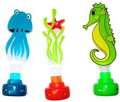 Buy Water Sports Lighted Dive Pals, Assorted Colors, x Pool Accessories, Pool Toys, Swim Lessons, Sports Equipment, Water Sports, Spice Things Up, Diving, Challenges, Fun Test