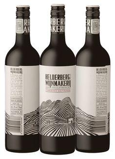 Embossed label design for wine