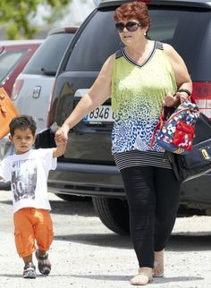 CR JR is growing up fast. Here he is running errands with his grandmother, Dolores.