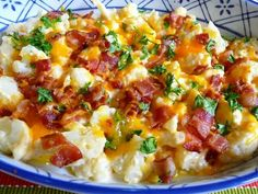Cauliflower bacon and cheddar cheese