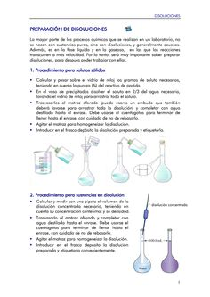 Documento Preparación de Disoluciones Chemistry, Medicine, School, Science Projects, Parts Of The Mass, Lab