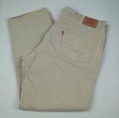Levi's Men's 505 Jeans Regular Fit Straight Leg Tan Khaki Denim Pants 44 x 32 #Levis #ClassicStraightLeg